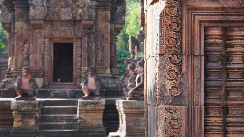 Der Banteay Srey Tempel ist voller Details