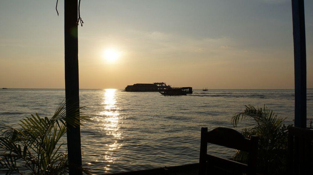 Sonnenuntergang auf dem Tonlé Sap See