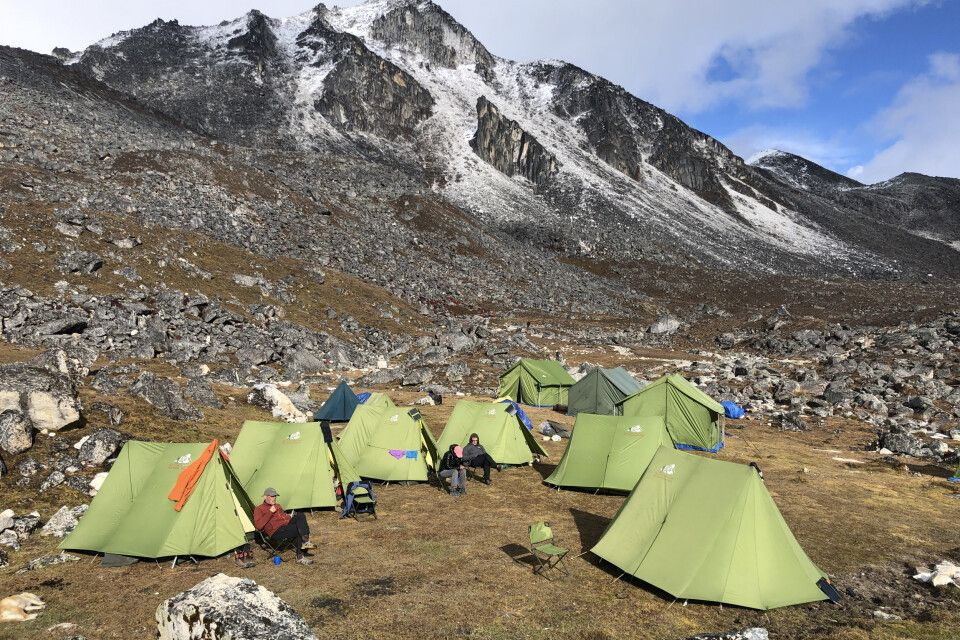 Zeltlager in Jichu Dramo