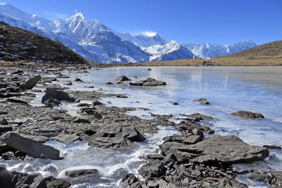 Nordufer des Eis-Sees (4600 m)