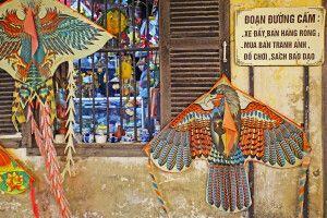 Traditionelle Drachen an einem Laden