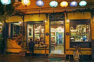 Kaffeerösterei in den Abendstunden in Hoi An