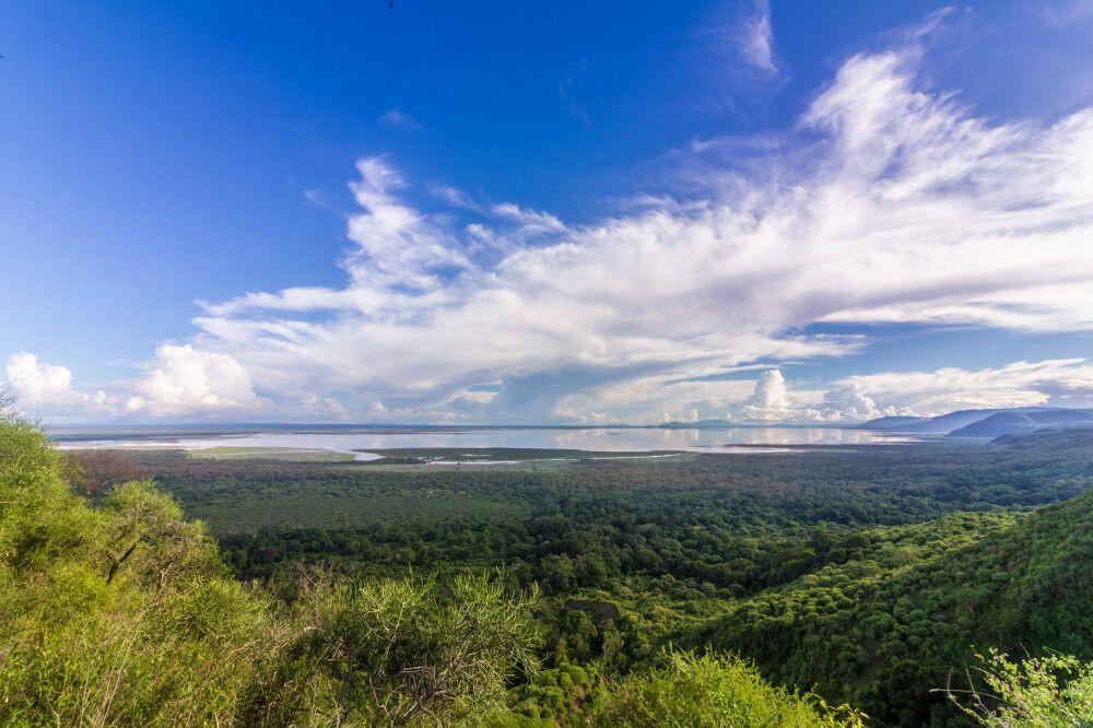 Blick auf den Nationalpark Lake Manyara, Tansania