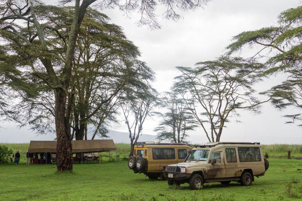 Privates Picknick mitten im Ngorongoro-Krater, Tansania