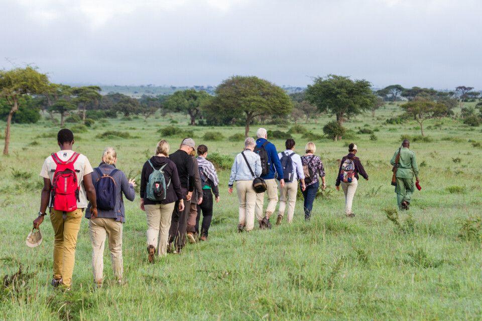 Fußsafari von der Lodge Grumeti Hills in der Grumeti Wildlife M