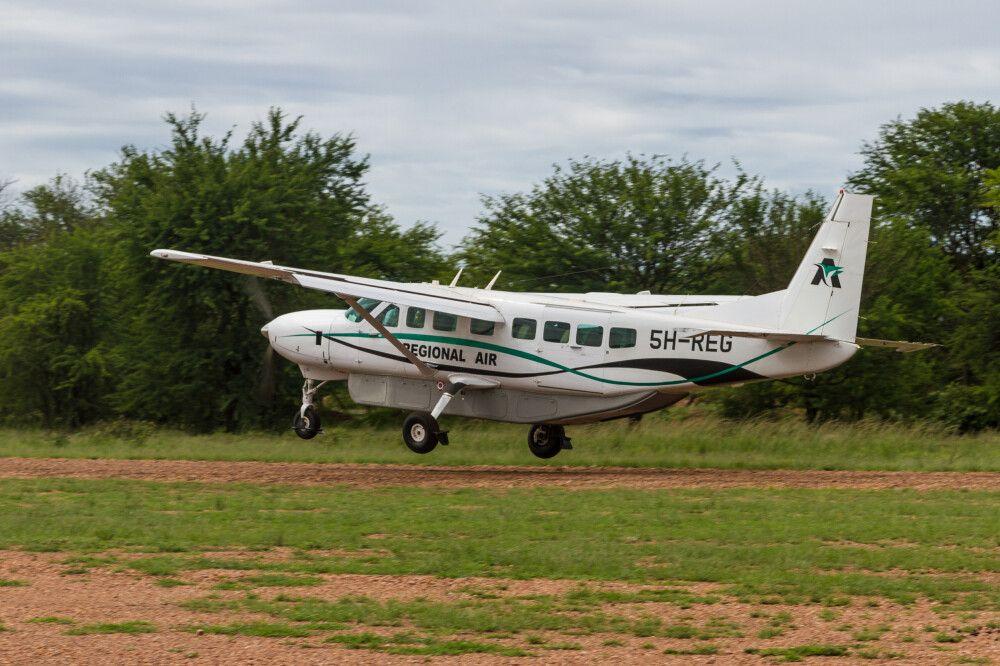 Der Kogatende Airstrip in der nördlichen Serengeti, Tansania