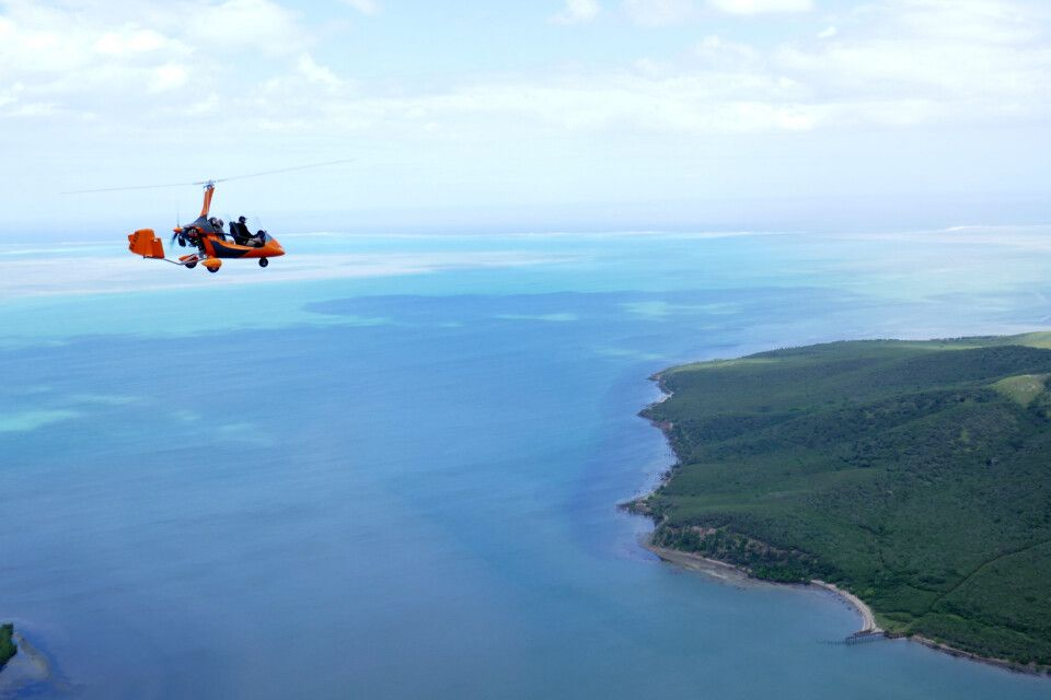 Grande Terre - mit dem Gyrokopter zum Herz von Voh