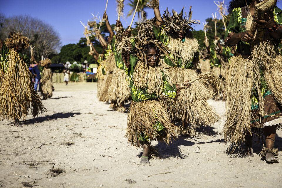 Traditioneller Tanz der Kanak auf Neukaledonien