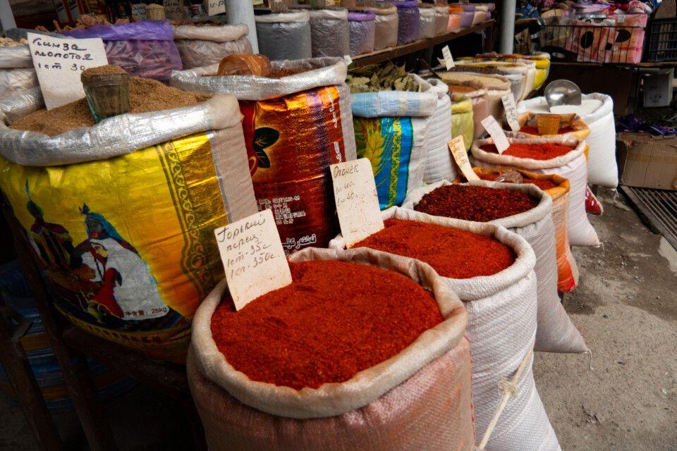 Karakol Markt Gewürze