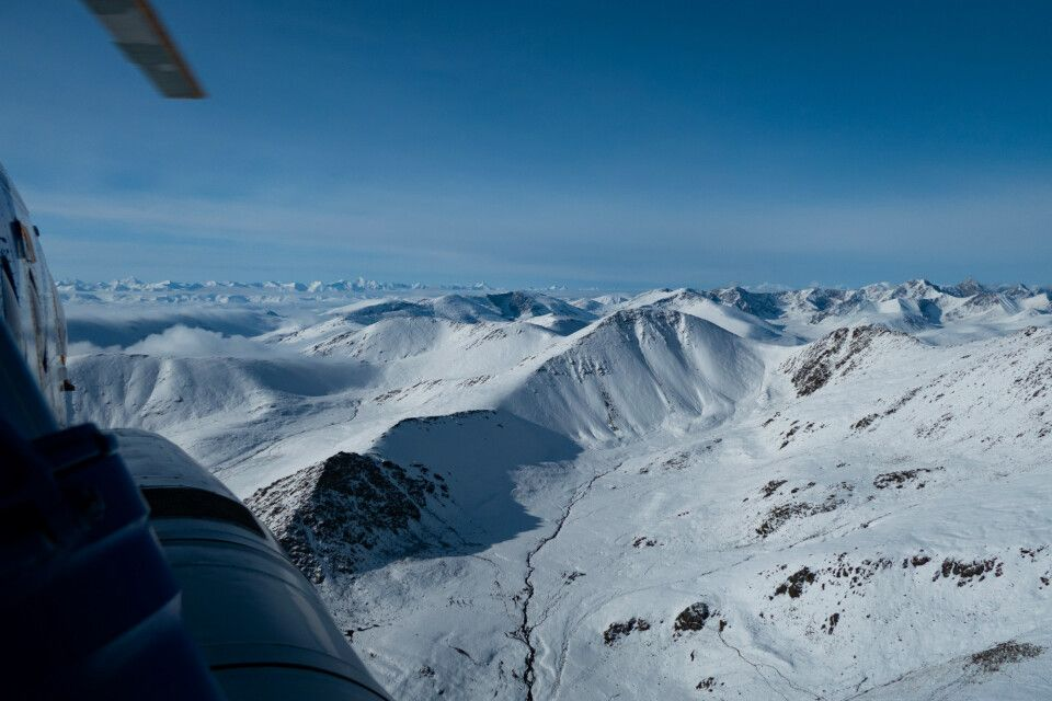Helikopterflug vom Karkara Basecamp zum Inyltschek Tal