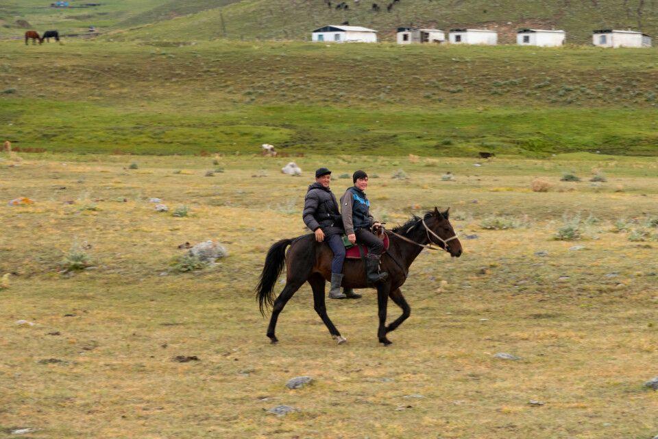 Reiter am Karkara Basecamp