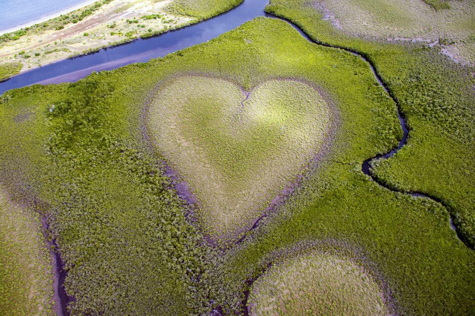 Blick auf das Herz von Voh in den Mangroven