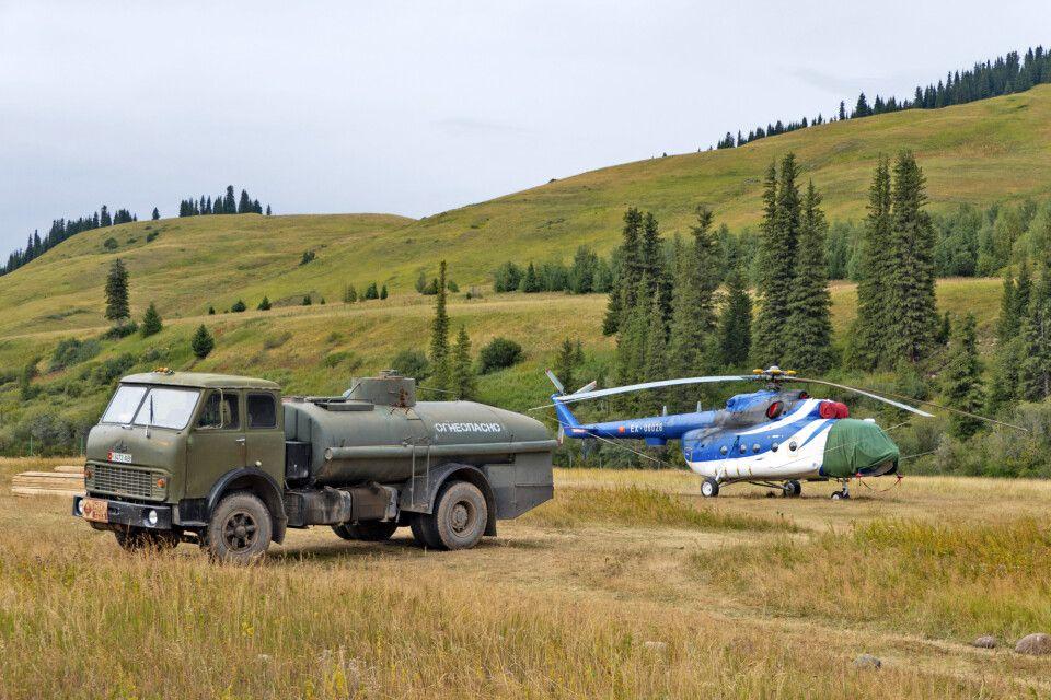 Karkara Basecamp Helikopter