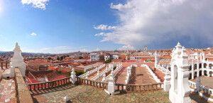 Ausblick über die weiße Stadt Sucre