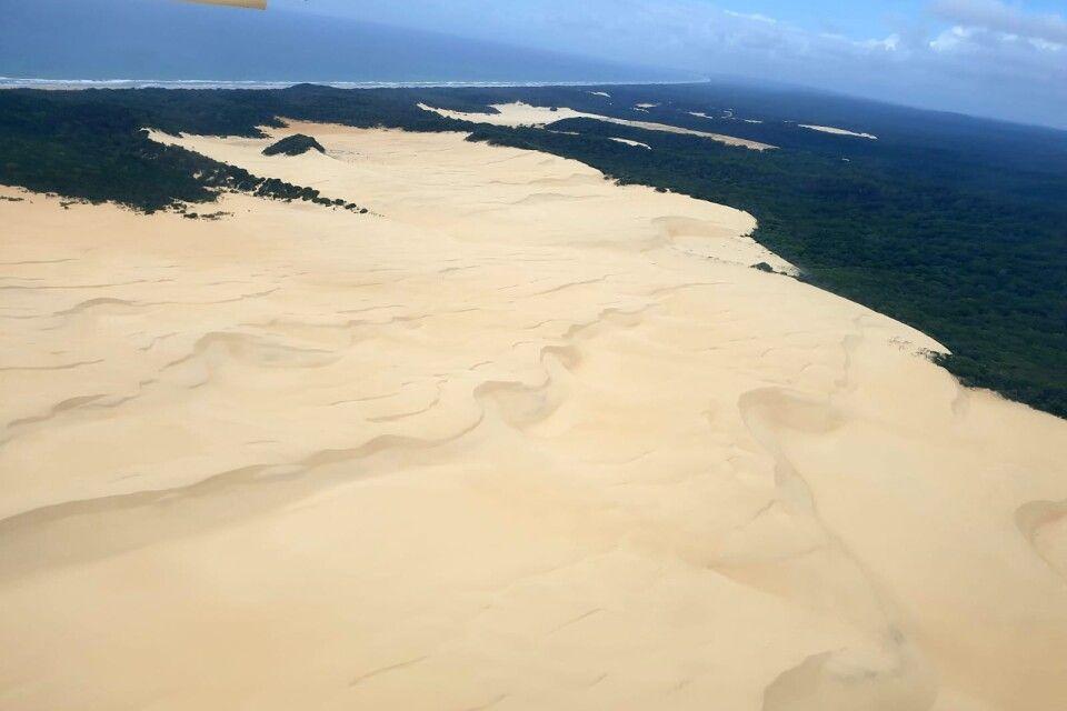 Überflug über Fraser Island