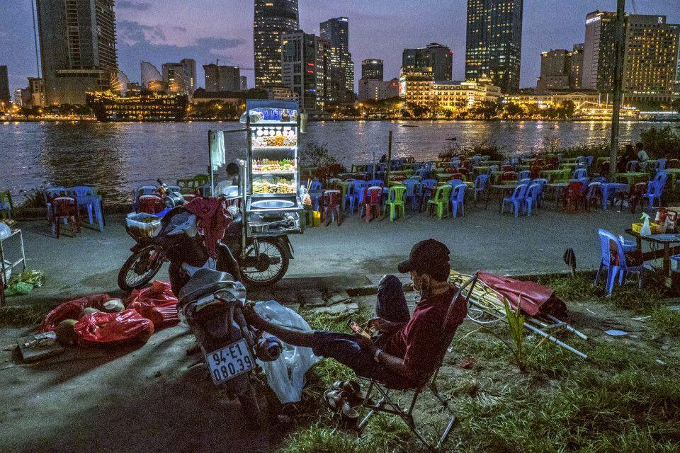 Ein Moment der Stille in Saigon