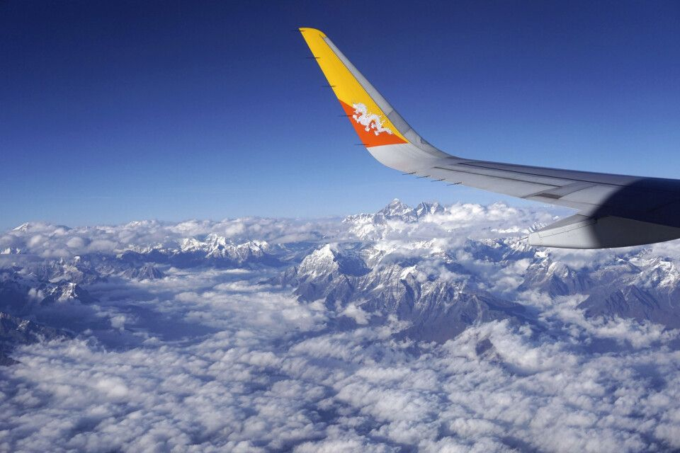 Panoramaflug zwischen Kathmandu und Paro