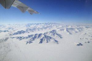 Auf dem Flug in den Westen der Mongolei
