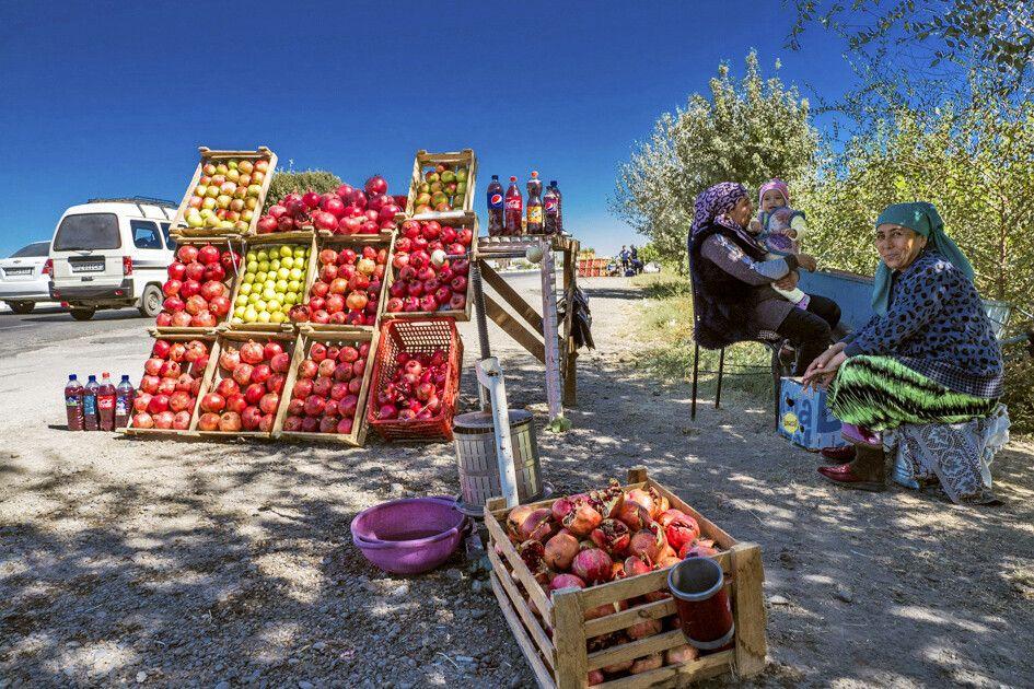 Granatäpfel-Verkauf
