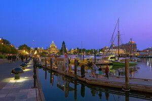 Victoria Harbour am Abend