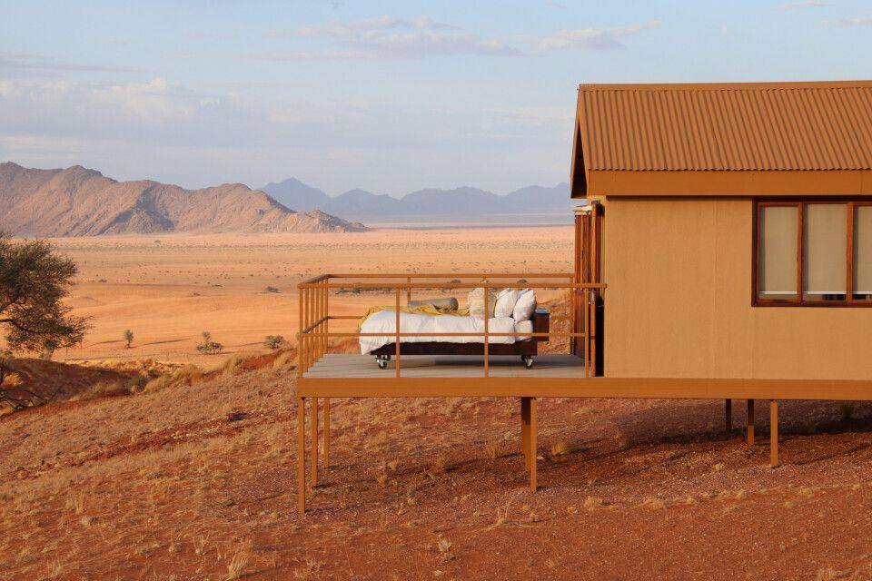 Übernachtung direkt unterm Sternenhimmel möglich - im Namib Dune Star Camp.