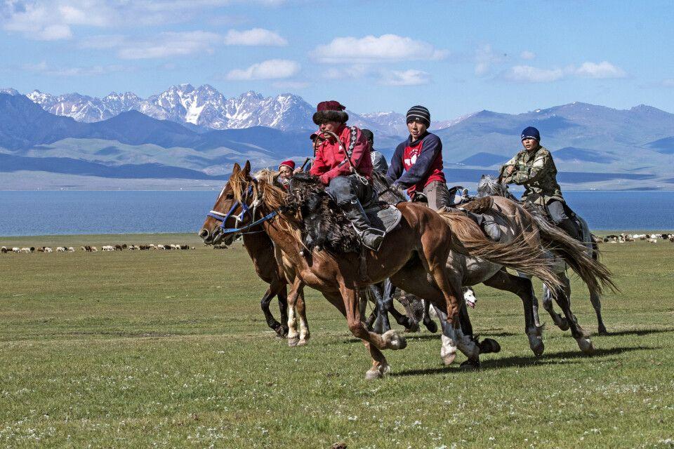 Junge Reiter im Wettstreit