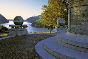 Trophy Point auf der US Militärakademie West Point, Hudson Valley, New York State