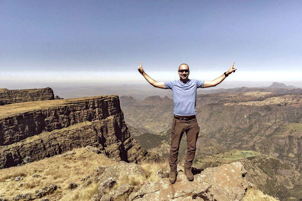 Am Gipfel des Inatye auf 4070 m
