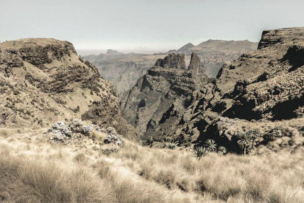 Aussichtspunkt auf die grandiosen Simien Mountains