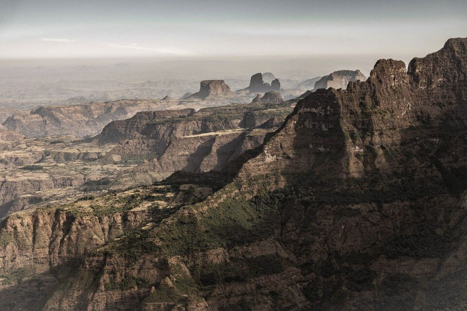 Blick über die Simien Mountains