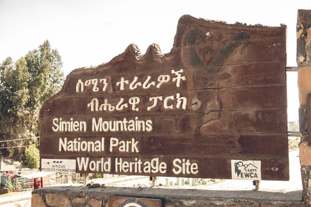 Debark am Fuße der Simien Mountains