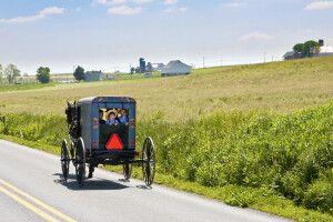 Amish-Buggy unterwegs, Lancaster County, Pennsylvania