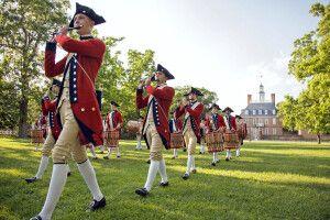 Parade in Colonial Williamsburg, Virginia