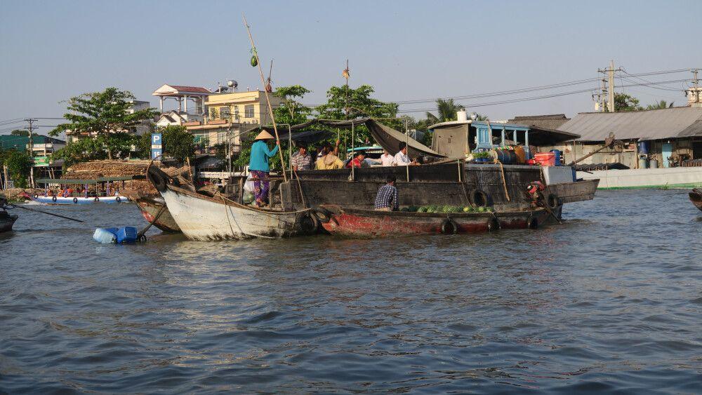 Am frühen Morgen im Mekongdelta