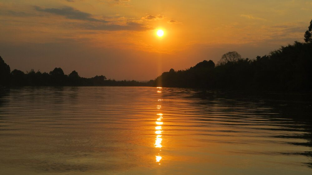 Sonnenuntergang im Mekongdelta