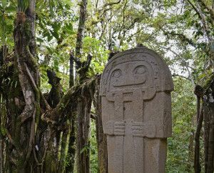 Statue in San Agustin