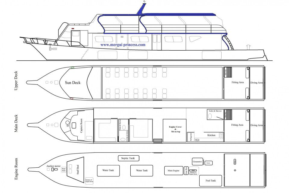 Deckplan Mergui Princess 1
