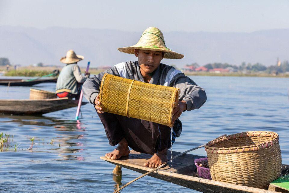 Fischer auf dem Inle-See