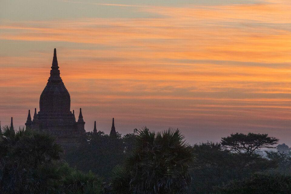 Bagan zum Sonnenuntergang