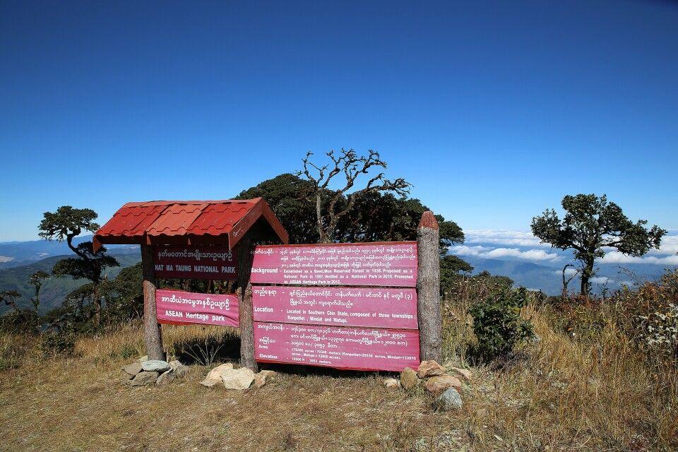 Gipfel des Mt. Victoria im Chin State
