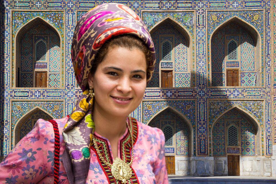 Begegnung am Registan in Samarkand