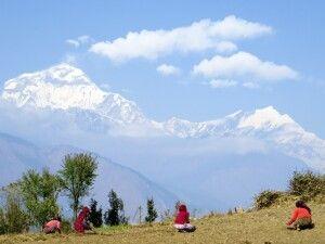 Dhaulagiri-Panorama in Shikha beim Aufstieg von Tatopani nach Ghorepani