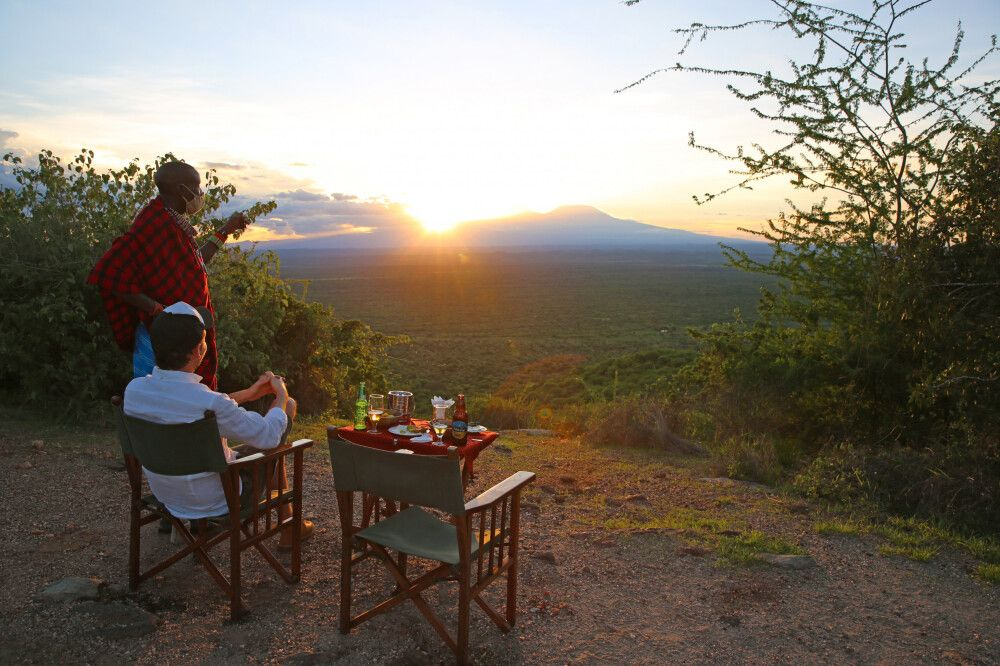 Unvergleichliche Abendstimmung in Afrika