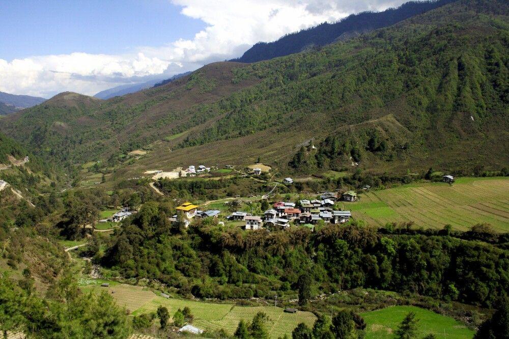 Dorf in Bhutan