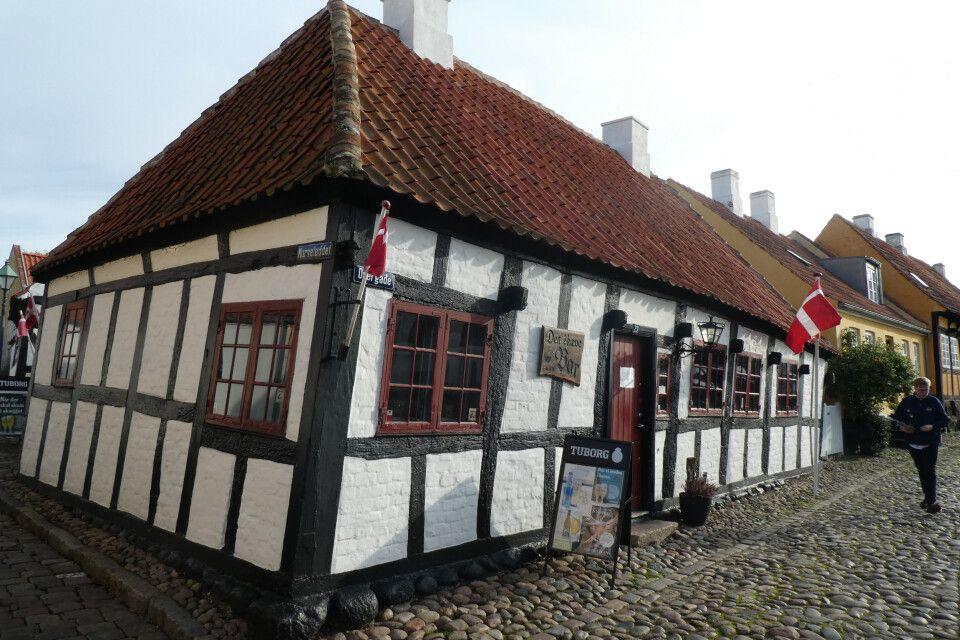 Historischer Straßenzug in Ebeltoft, Jütland