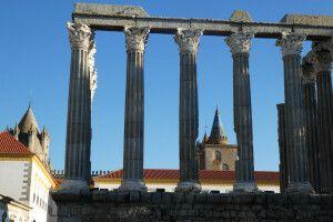 Römischer Tempel in Evora, Alentejo