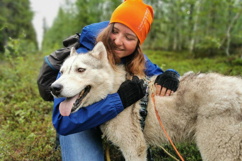 Wandern mit Husky
