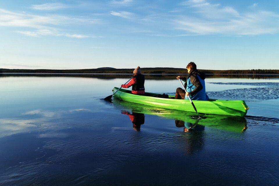 Mit dem Kanu unterwegs