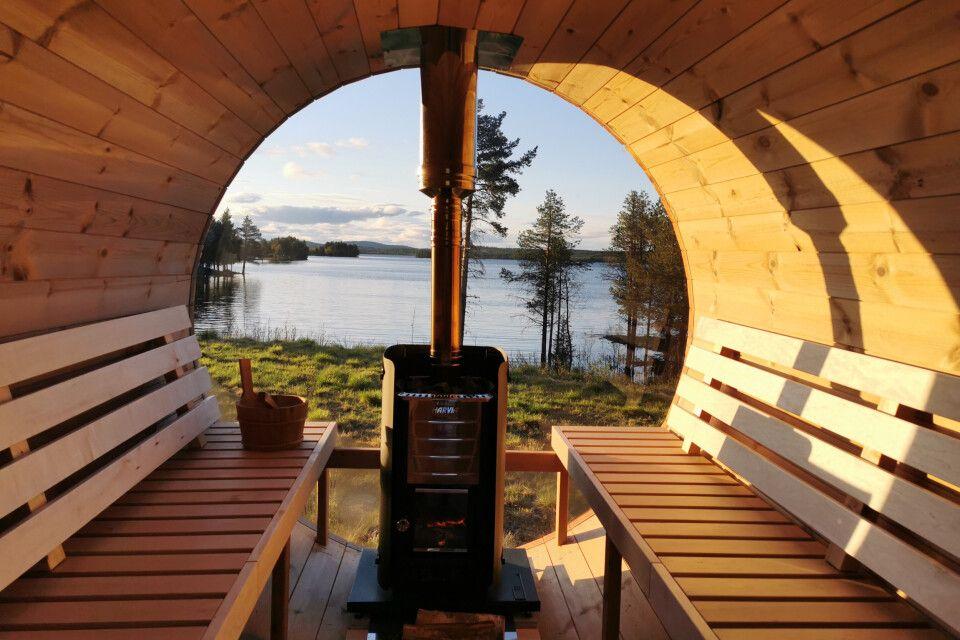 In der idyliischen Sauna