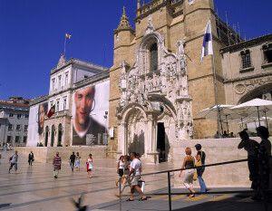 Klosterkirche Santa Cruz, an der Praca 8 de Maio, Coimbra, Zentral-Portugal